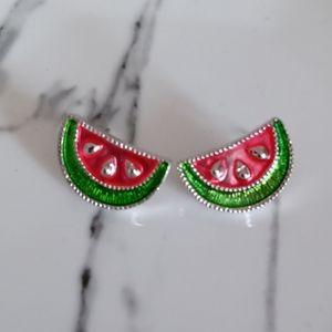 Avon watermelon earrings